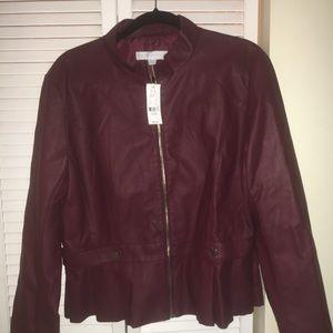 NWT burgundy jacket XL